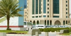 Some buildings along the corniche in Doha