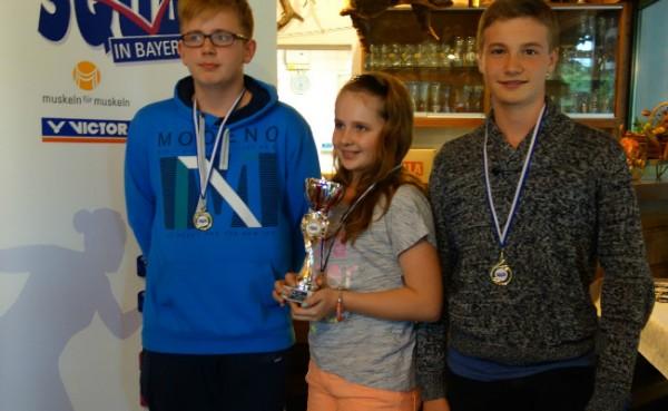 u15 Team mit Antonia, Janos und Timo holt Titel in Königsbrunn