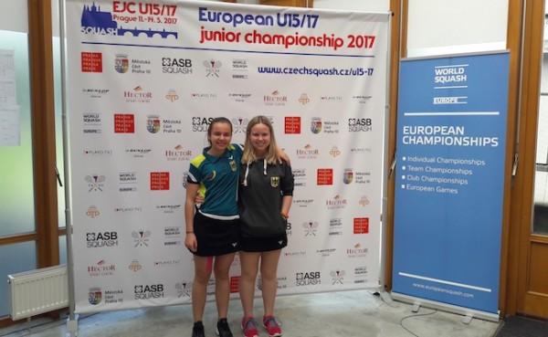 Lucie und Jana bei der u15/u17 Team Europameisterschaft in Prag