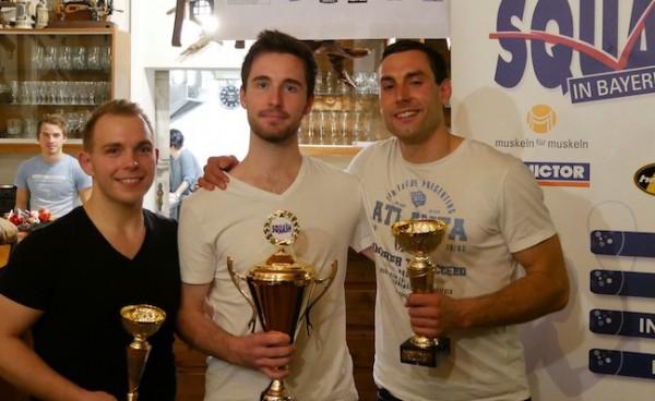 Simon siegreich bei bayrischer Meisterschaft – Valentin gewinnt Herren B Feld