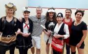 Damenteam feiert Rosenmontag im Training